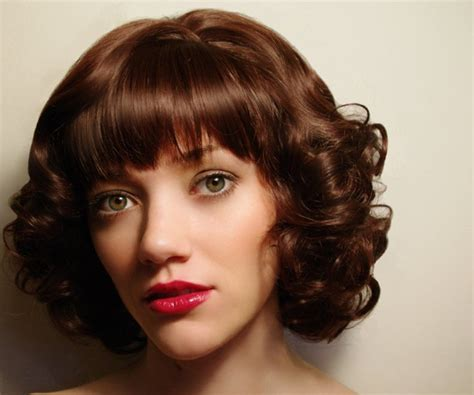 rich brown bob hair styles rich fringed bob medium hair styles ideas 25727