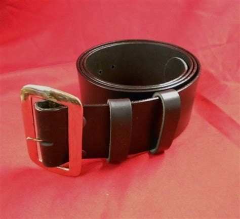 santa claus belt with buckle black solid leather plain 3inch