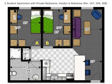 2 bedroom student apartments robishaw 3372 office of residence life university of