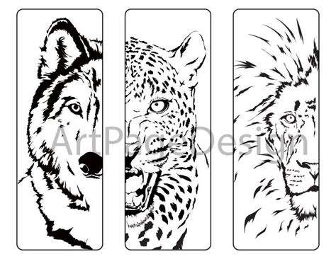 printable wolf bookmarks printable bookmarks black and white animals