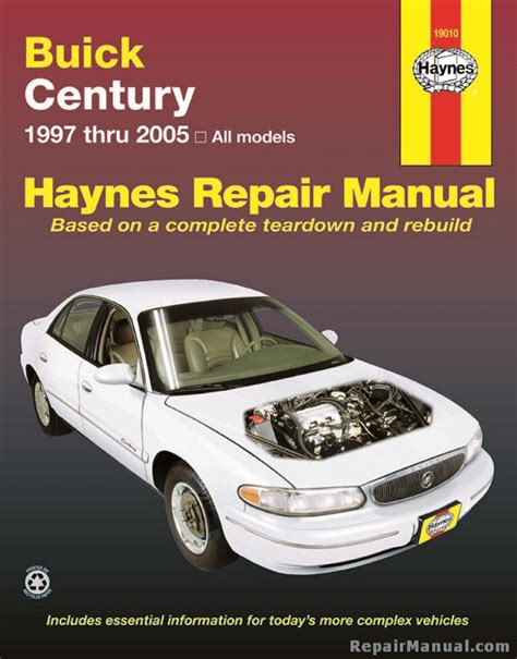 automotive service manuals 1999 buick century user handbook haynes buick century 1997 2005 car repair manual