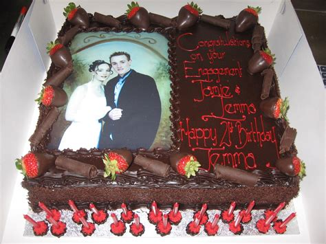 Cake With Picture engagement cake with photo sargent s cakes