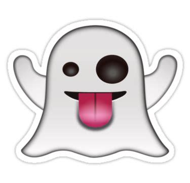 emoji ghost quot spooky ghost emoji quot stickers by printpress redbubble