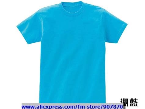 solid color t shirts cheap t shirts custom womens mens sky blue blank t