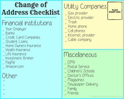 change of address checklist i so many addresses all