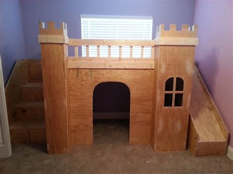 Castle Loft Bed by White Princess Castle Loft Bed Diy Projects