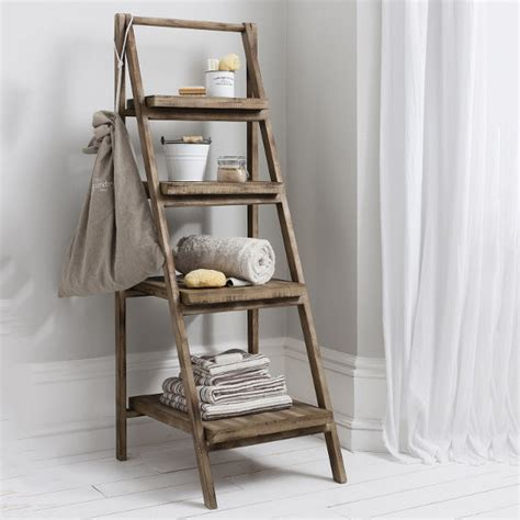 ladder shelf bathroom cottage bathroom look add this bathroom ladder shelf
