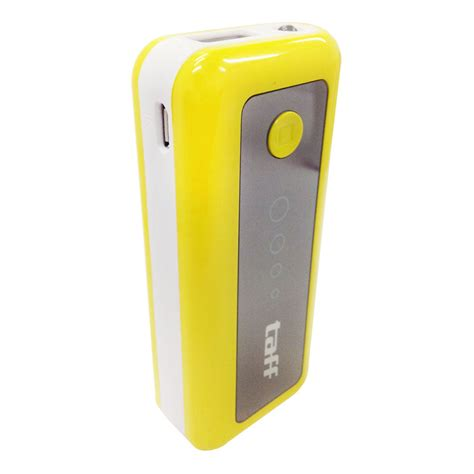 Power Bank Taff taff power bank 5200mah model mp5 for tablet and smartphone mp5 yellow with white side