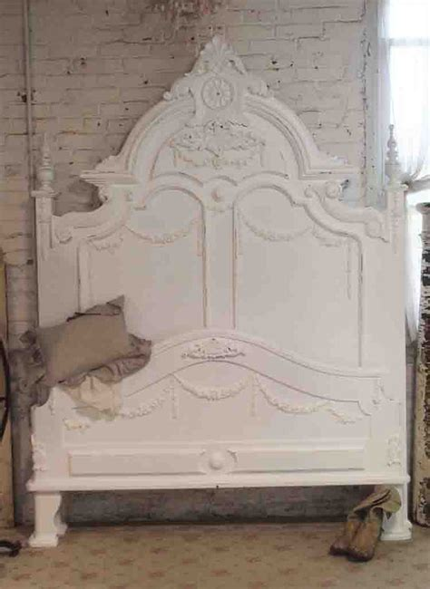 painted cottage shabby french white romantic bed shabby