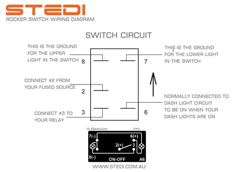 diagram on wiring rocker switch with 5 pins wiring