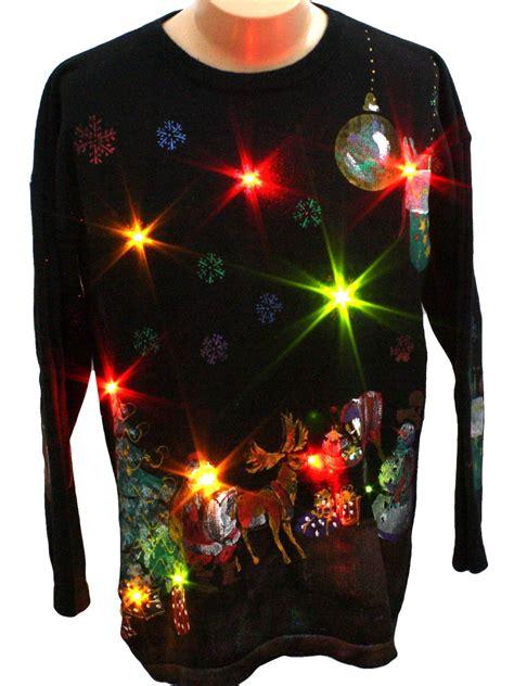light up ugly christmas sweater marguerita unisex