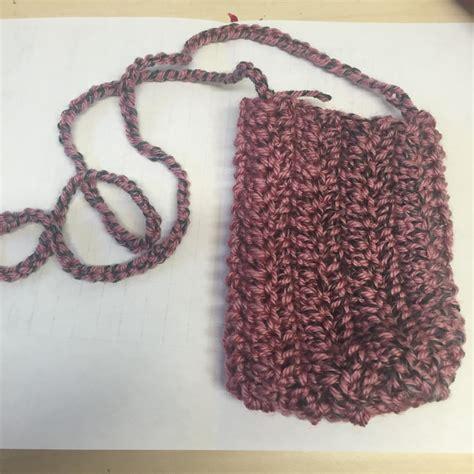 crochet mobile bag pattern cell phone bag small messanger bag crochet cell phone bag