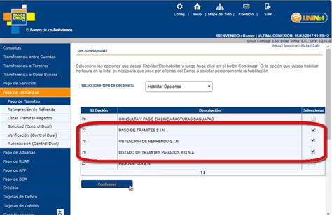 banco union uninet pago de impuestos por uninet de banco uni 243 n bolivia
