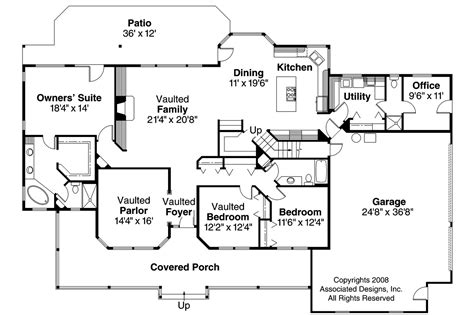 1st floor house plan country house plans hillrose 30 269 associated designs