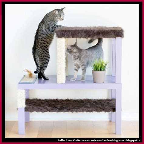 a coffee table for cats technabob dollar store crafter turn a end table and coffee table