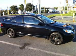 2004 honda civic black front wheel drive fwd coupe 2