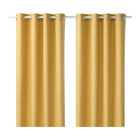 yellow curtains ikea mariam curtains 1 pair ikea