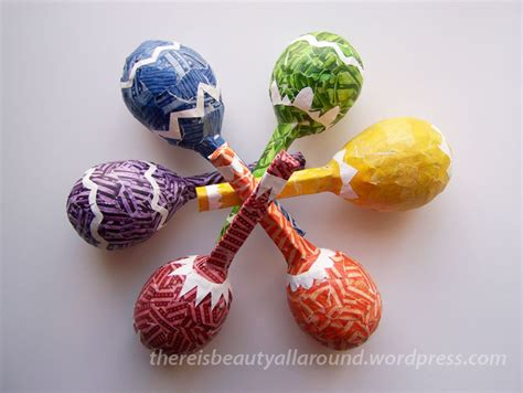 Paper Mache Craft Ideas - tutorial paper mache maracas paper mache craft and