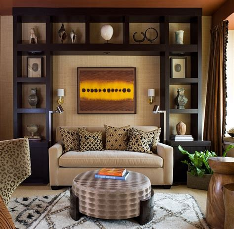 livingroom wall decor african inspired interior design ideas