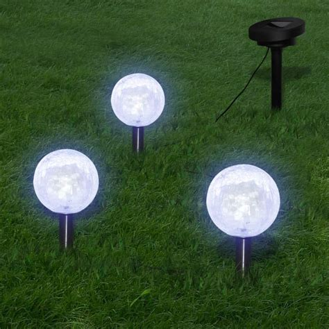 led light garden solar vidaxl co uk solar bowl 3 led garden lights with spike
