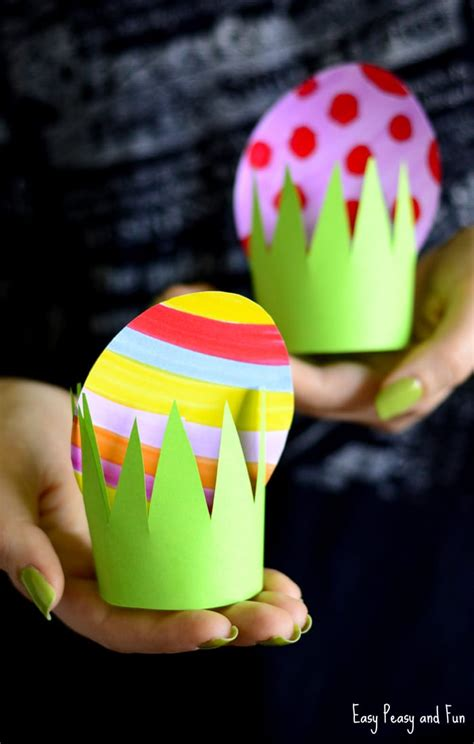 Paper Easter Egg Crafts - paper easter egg craft idea easy peasy and