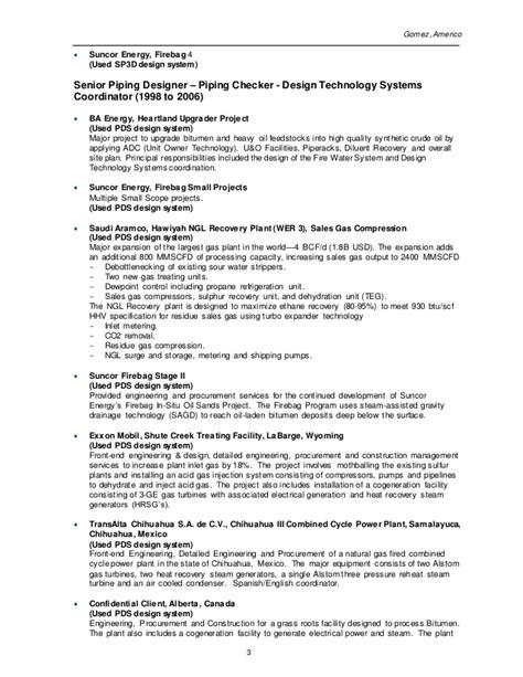 Pds Designer Sle Resume by A Gomez Resume Pipe Designer Checker Plain