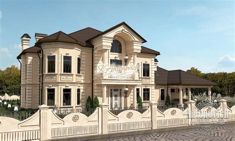 make a house facade of a luxury villa in dubai