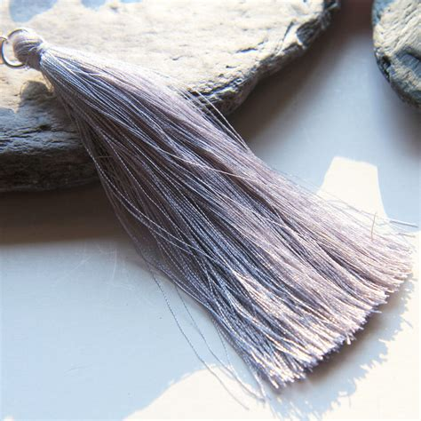 grey beading grey tassel for bead necklaces