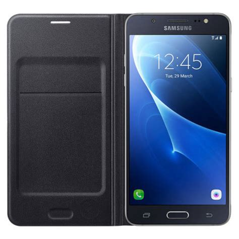 Samsung J5 Flip official samsung galaxy j5 2016 flip wallet cover black
