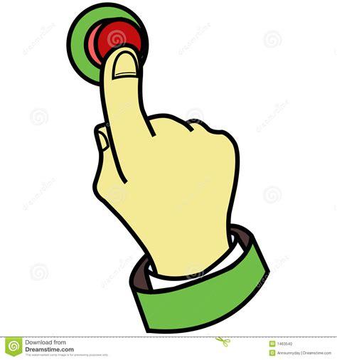 le clipart doigt appuyant sur le bouton photo stock image 1463540