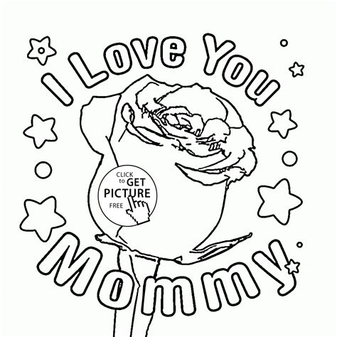mothers day pictures to color for s day coloring page for