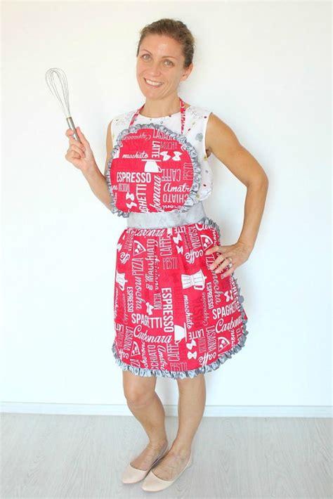 apron pattern with ruffles ruffled apron sewing pattern favecrafts com