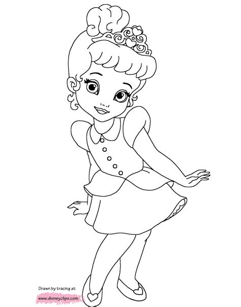 Disney Little Princesses Printable Coloring Pages Disney Baby Disney Princess Characters Coloring Pages