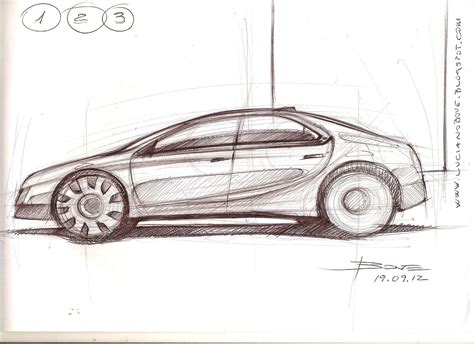 sketchbook car tutorial car sketch tutorial the side view by luciano bove new cars