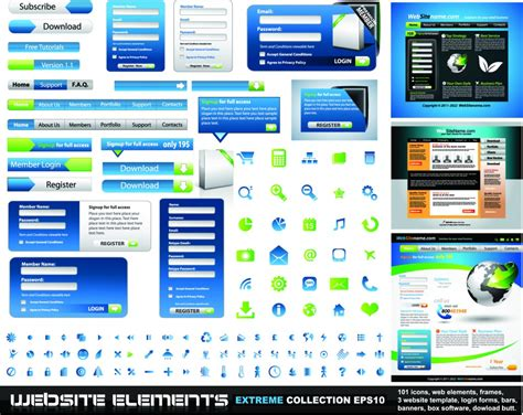 homepage design elements vector web design elements design inspiration vexels blog