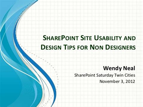 homepage design tips sharepoint site usability and design tips for non