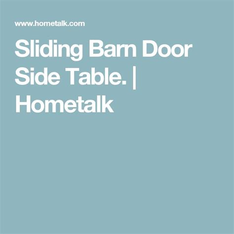 barn door side table 17 best ideas about barn door tables on