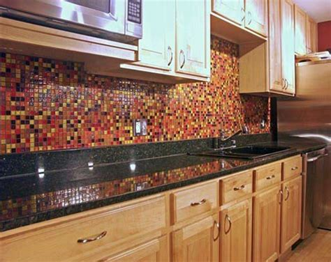 red glass tile kitchen backsplash amazing kitchen countertop materialscalfinder remodeling blog