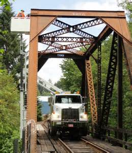 Truck rental under bridge inspection equipment rental work
