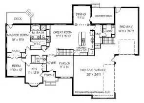 Ranch Style Homes With Open Floor Plans Big Ranch House Plans Ranch Floor Plans
