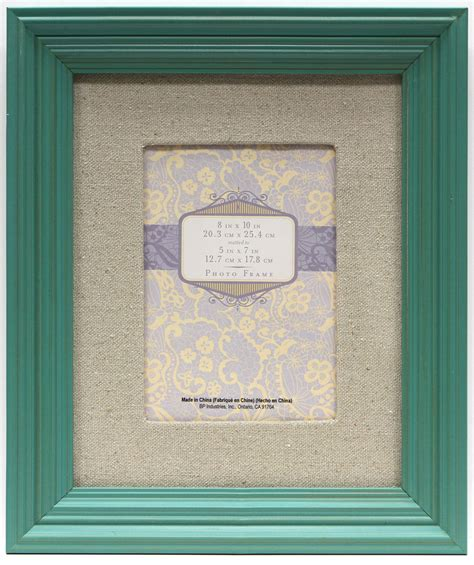8x10 Frame Mat 8x10 mat to 5x7 step bright teal frame jo