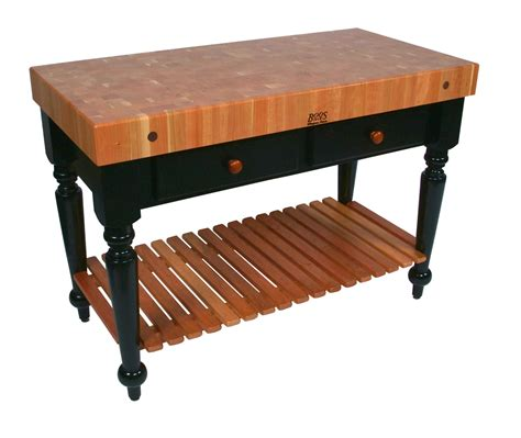 boos le rustica with shelf cherry butcher block