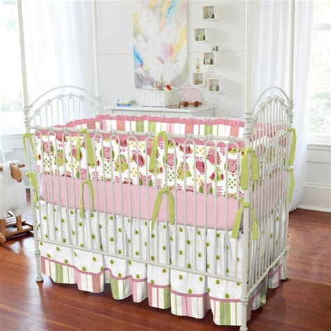 baby owl crib bedding girly owl crib bedding traditional atlanta by