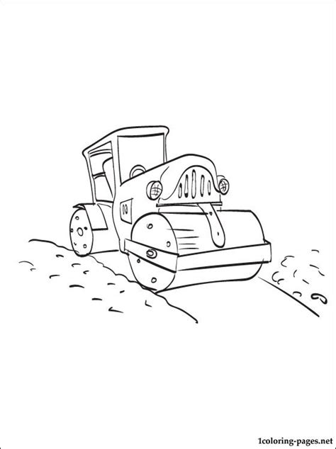Coloring Page Road by Road Roller Coloring Page Coloring Pages