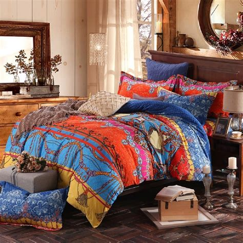 colorful comforter sets king 3pcs colorful boho bedding set bohemian duvet covers