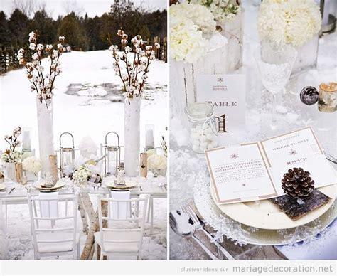 id 233 es pour d 233 corer une table mariage en hiver
