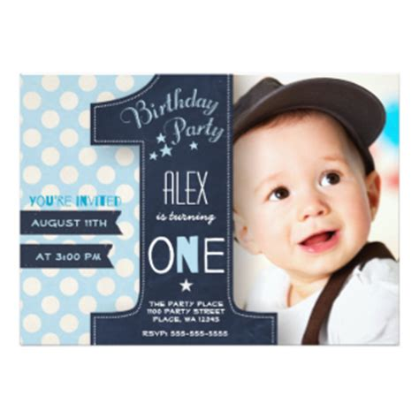 Invitation Letter For 1 Year Birthday 1st Birthday Invitations Announcements Zazzle