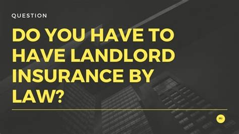 do you have to have house insurance do you have to have landlord insurance by law