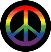 Gay Pride Flag Colors Peace Sign   Black Background  Gay Pride Rainbow Shop T SHIRT