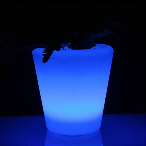 Glowing Planter Pots by Light Up Led Plant Pot Power Lights Co Ltd